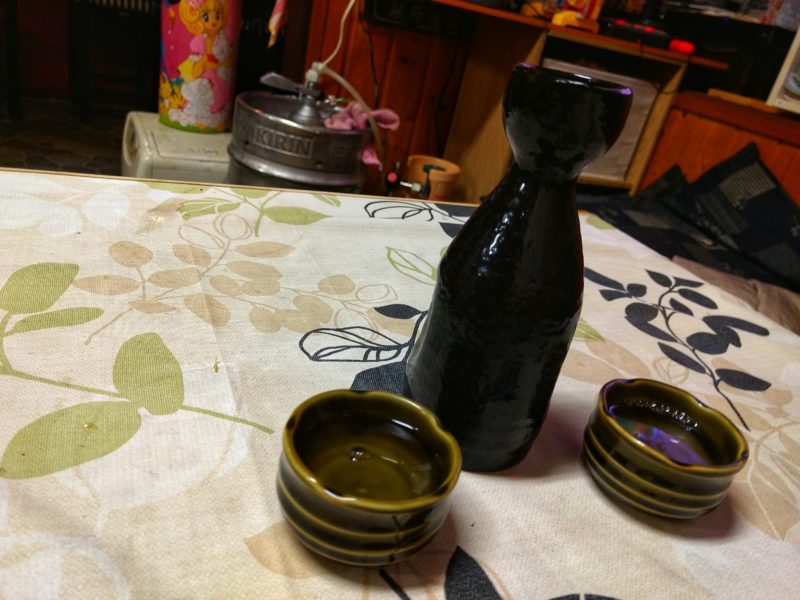 Sake jug and cup